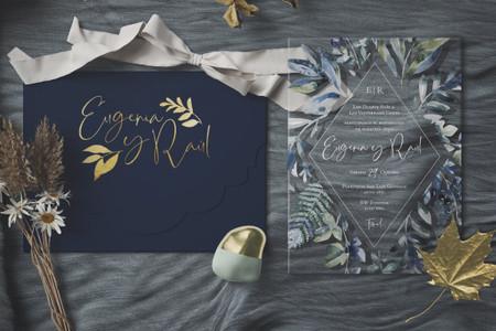 Invitaciones de boda en acrílico: nueva tendencia en papelería nupcial