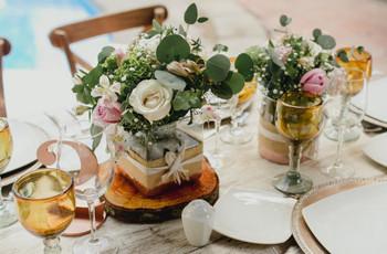 45 centros de mesa para boda sencillos... ¡y encantadores!