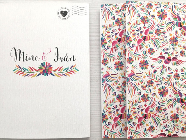 40 invitaciones de boda mexicanas repletas de color