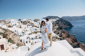 Luna de miel en Grecia, un viaje en blanco y azul