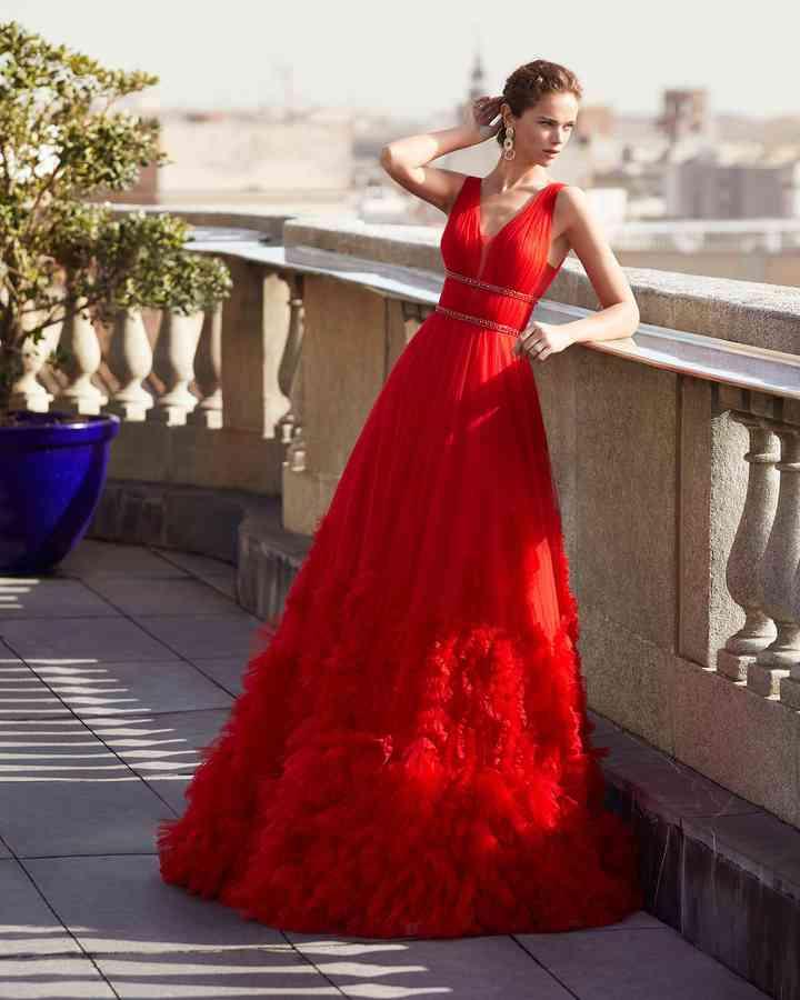 vestidos rojos de fiesta para boda formal
