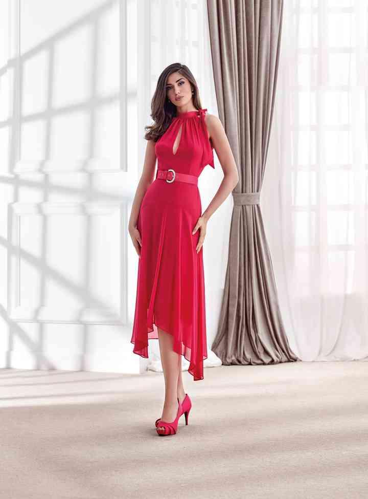 vestidos rojos largos juveniles
