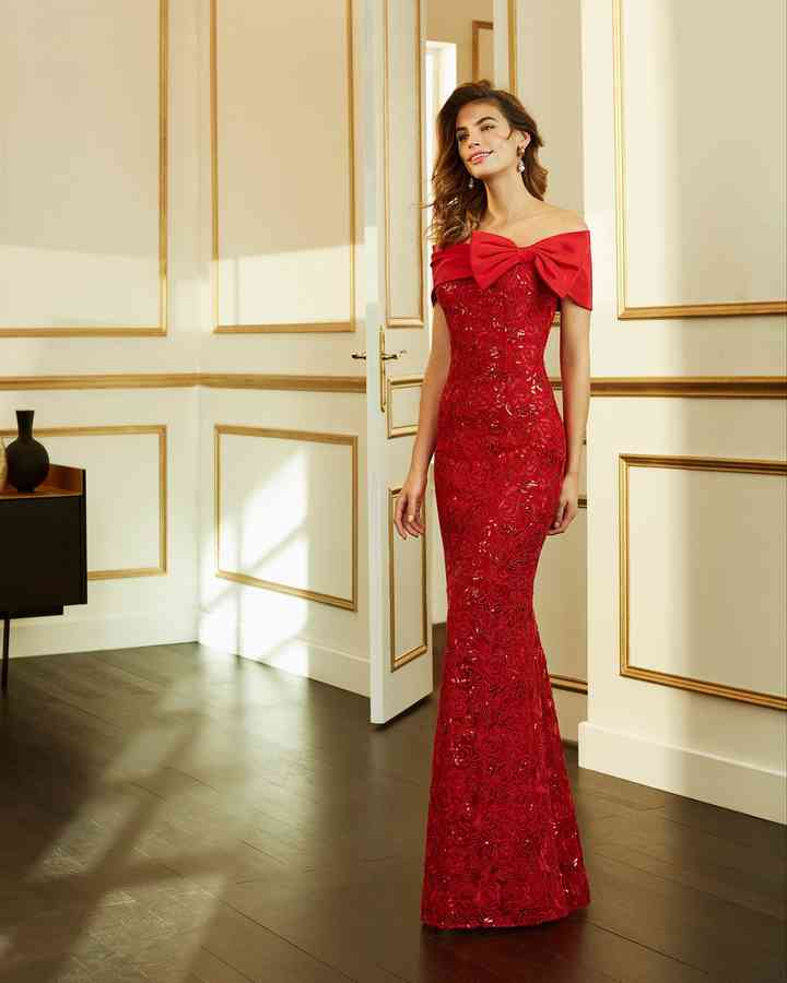 vestido rojo fiesta ceñido al cuerpo