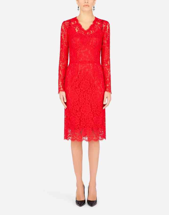vestidos rojos de encaje para fiestas