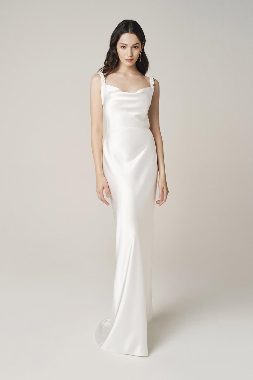 vestido de novia largo sencillo