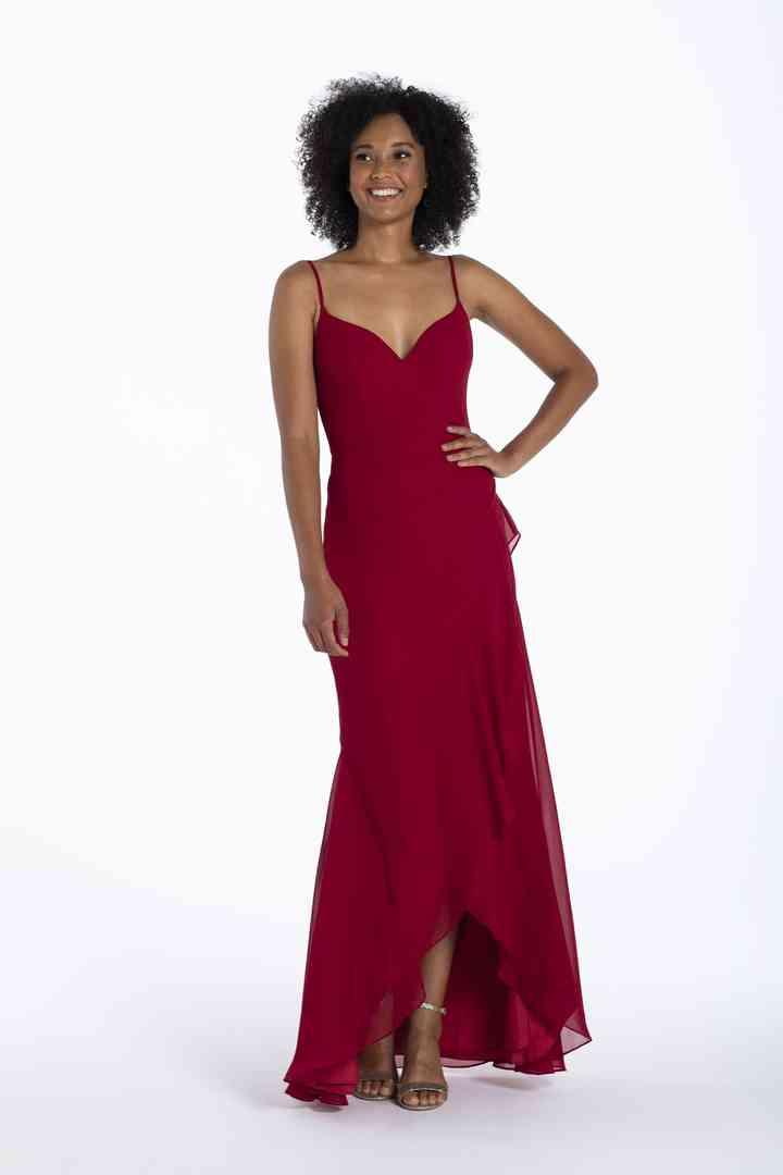 vestidos color rojo oscuro largo para fiesta