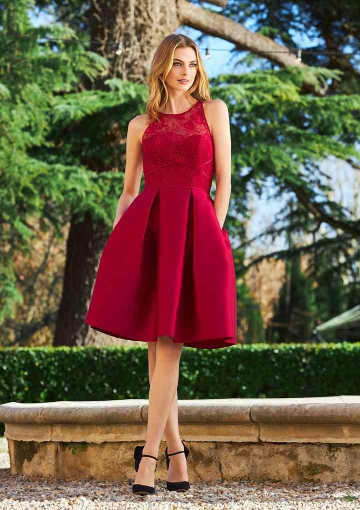 vestidos rojos elegantes de noche