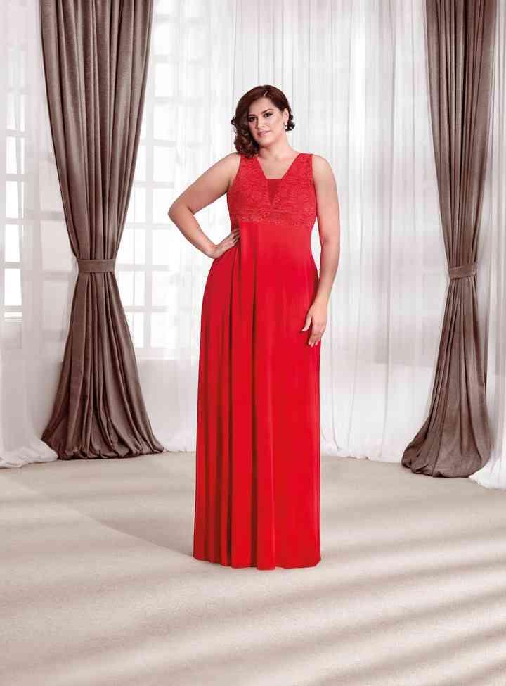 vestidos largos rojos de fiesta para tallas grandes