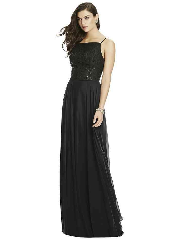 vestido negro de fiesta ceñido
