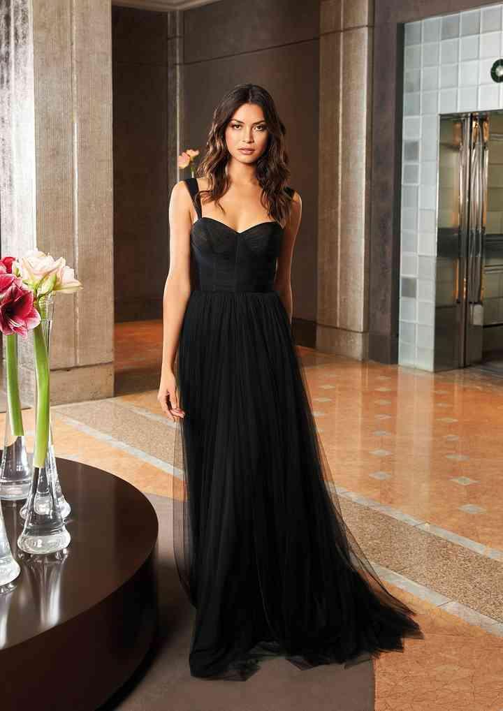 vestido de fiesta de noche elegante corte recto