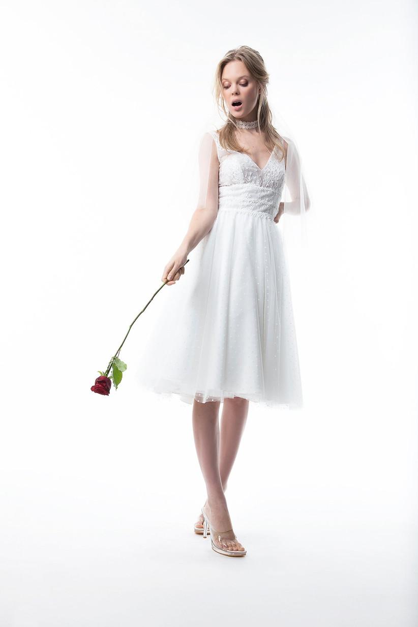 vestido novia civil midi