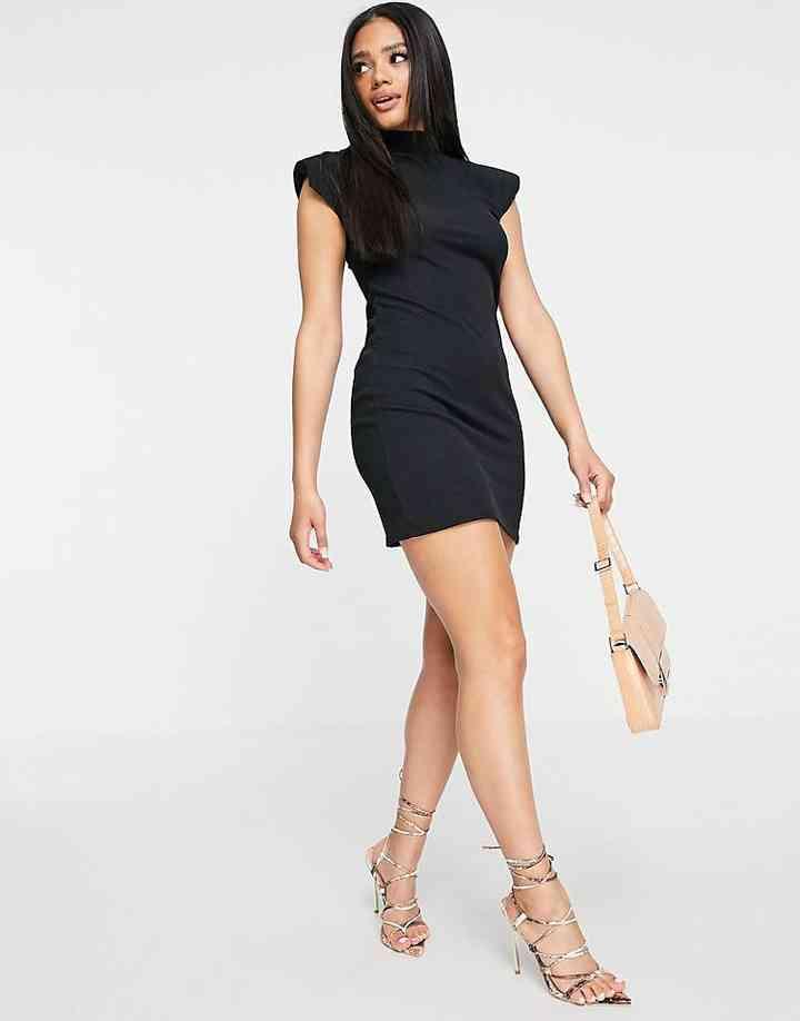 vestido corto negro para fiesta