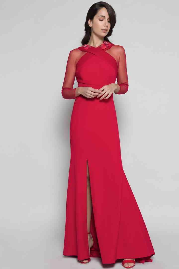 vestido rojo largo de fiesta