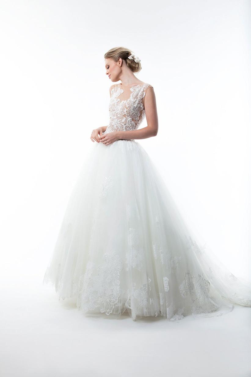vestido novia princesa tul boda