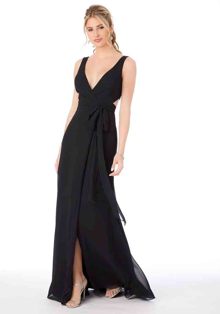 vestido negro largo casual