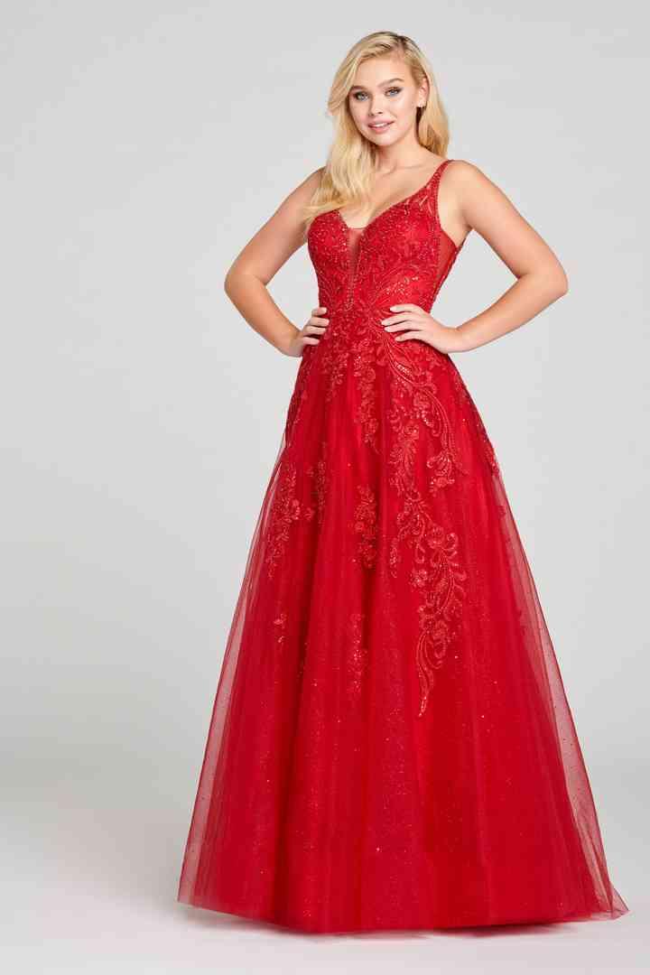 modelos de vestidos color rojo para fiestas estilo princesa