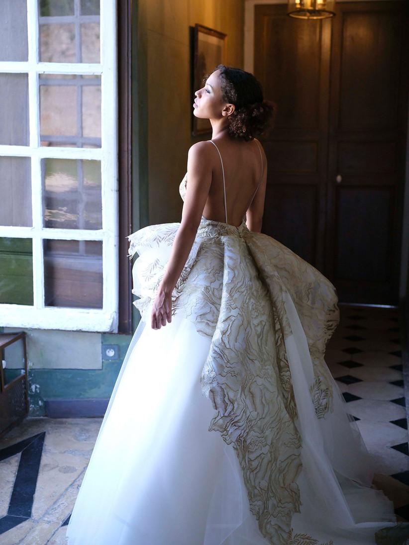 cauda vestido novia