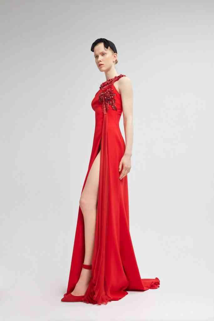 modelos de vestidos color rojo para fiestas
