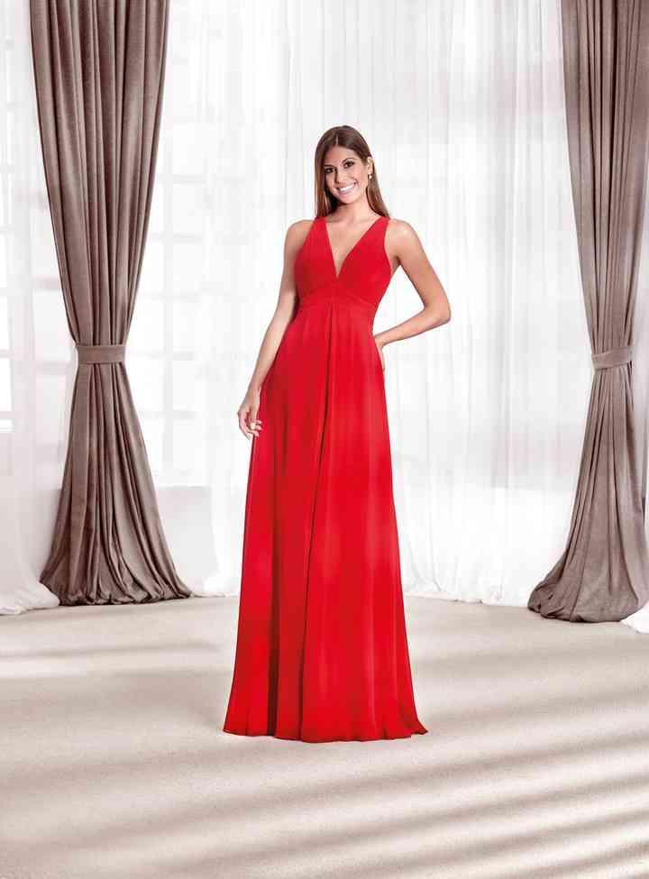 vestidos de color rojo para fiestas