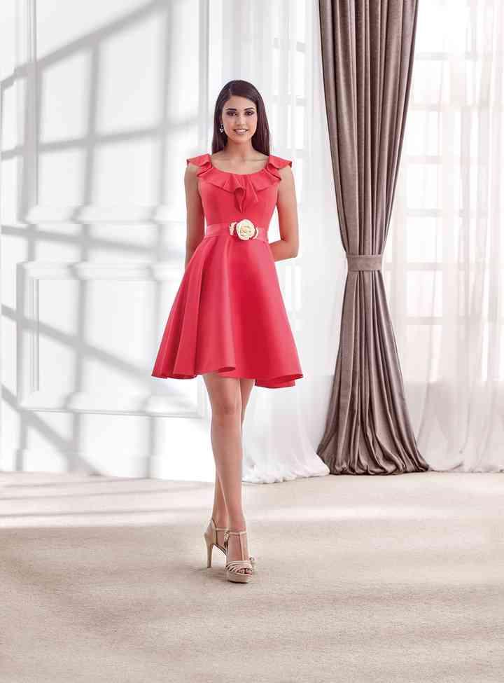 vestidos rojos elegantes de fiesta