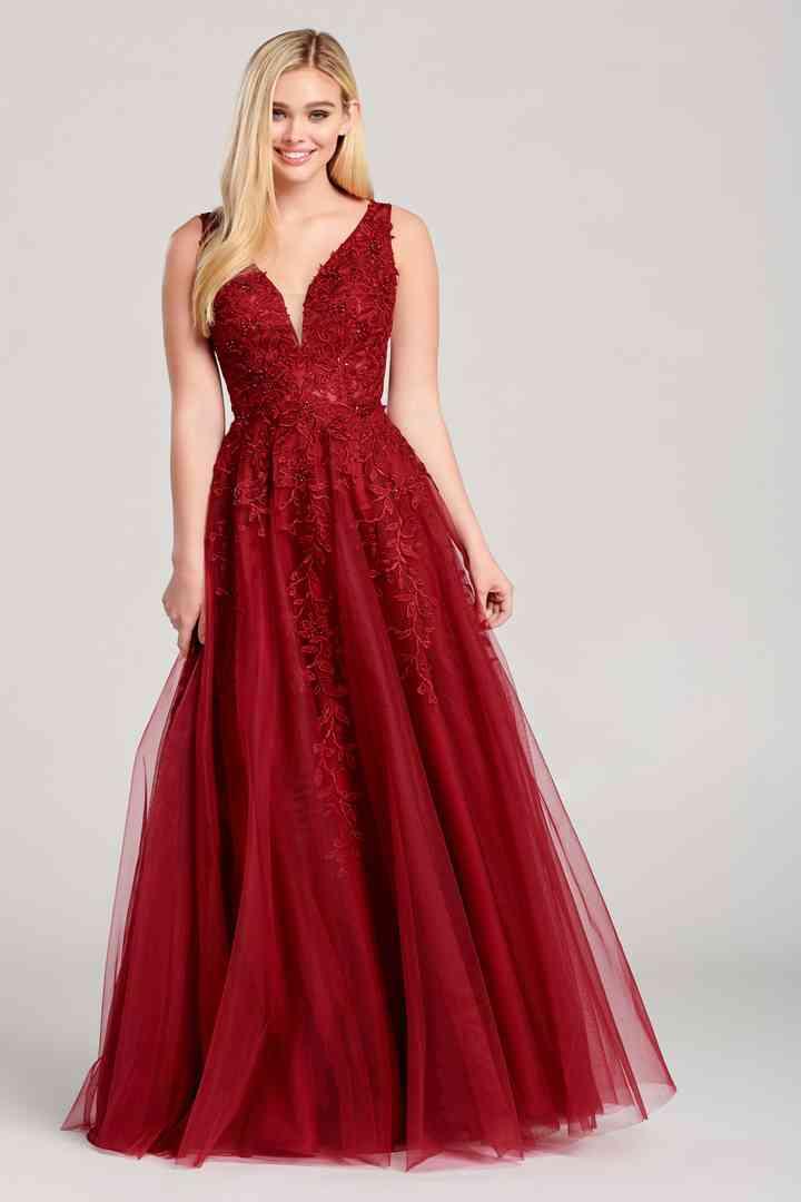 vestido rojo de tul estilo princesa para boda