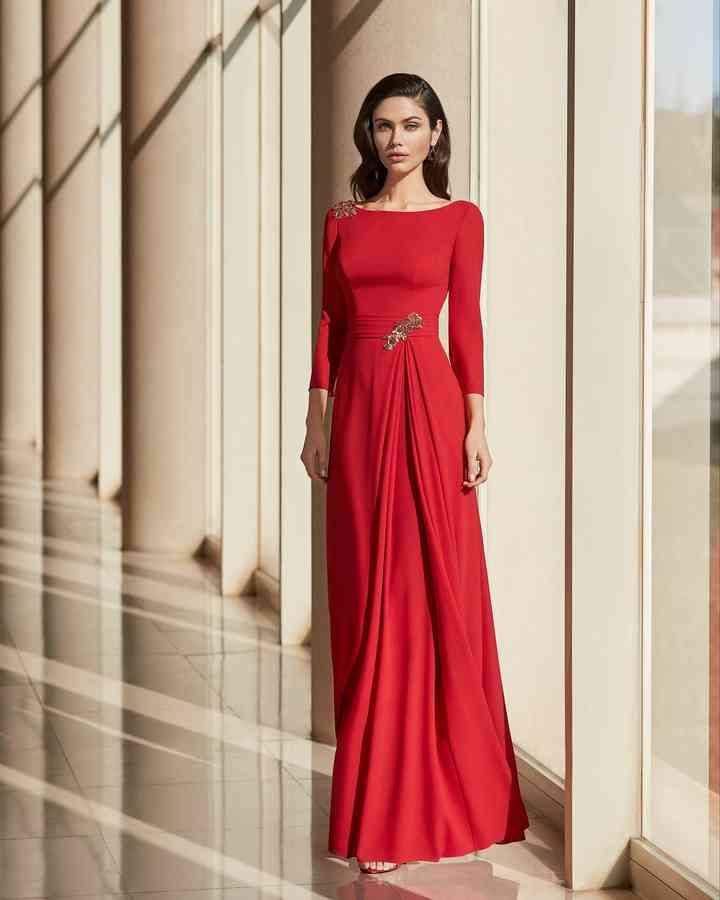 vestidos de color rojo para boda