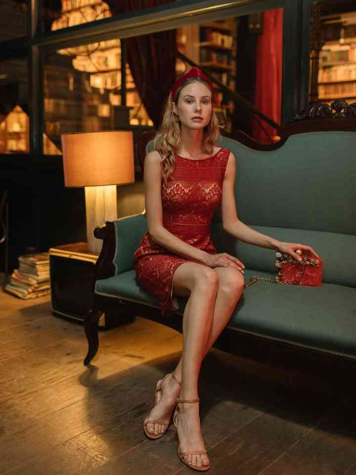 vestido rojo corto juvenil para fiesta