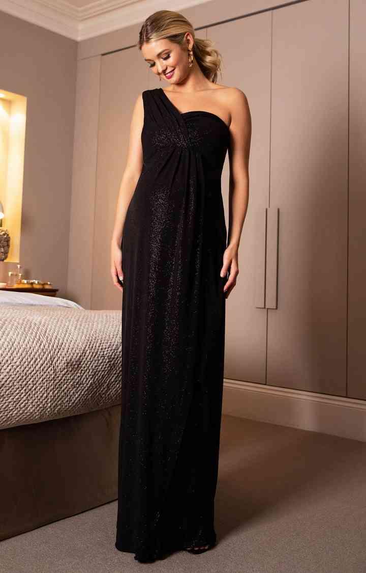 vestido de fiesta de noche para emabrazadas