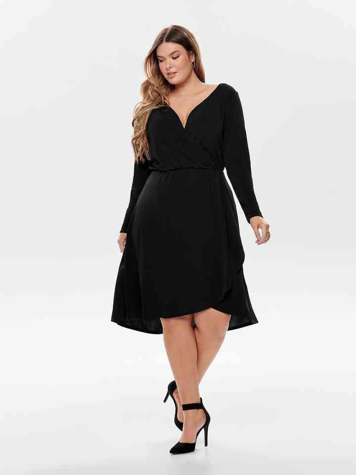 vestidos de noche corto para tallas grandes