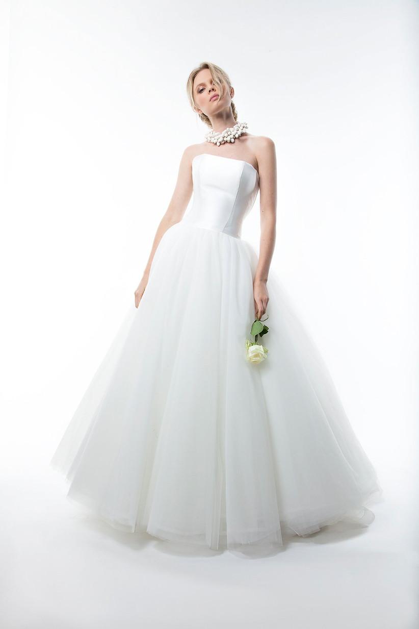 vestido novia strapless boda