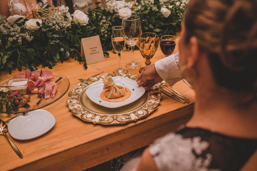 menú de boda plato servido