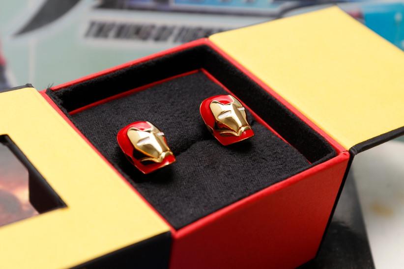 mancuernillas personalizadas para novio de Iron Man
