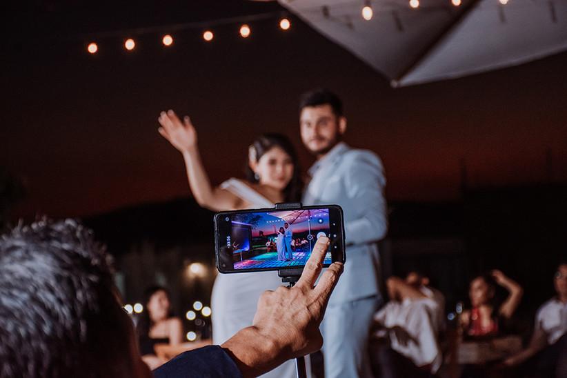 incluir a los invitados en una boda virtual