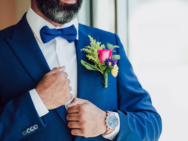 Cómo agregar color al look de novio