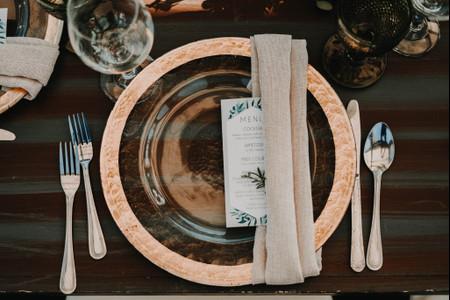 Cubertería para el banquete de boda, ¡todo lo que necesitan saber!