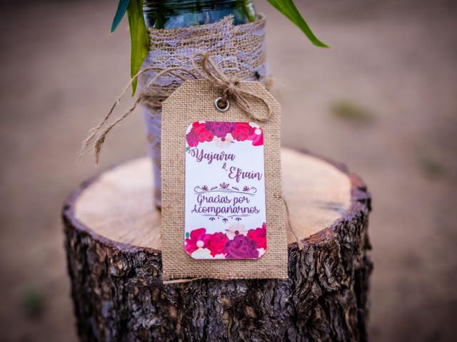 Tarjetas de agradecimiento para los invitados de boda