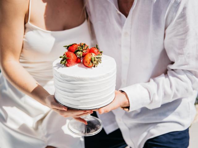 ¿Cómo podrían calcular el tamaño de pastel de boda?