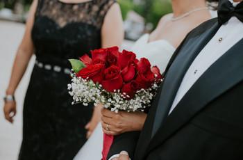 50 ramos de novia rojos para mujeres apasionadas y muy románticas