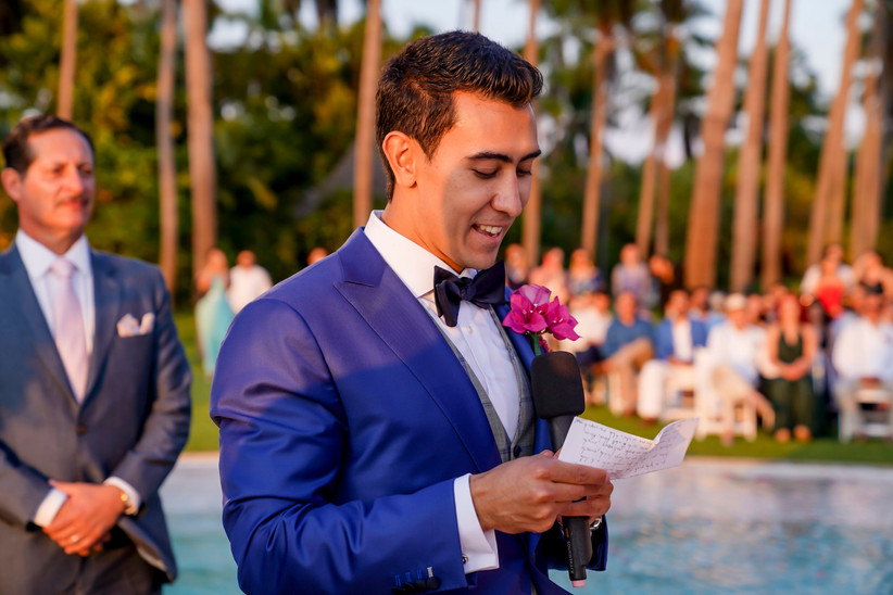 votos de matrimonio de novio en la ceremonia
