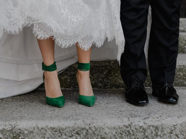50 zapatos de novia de colores: pon el arcoíris a tus pies