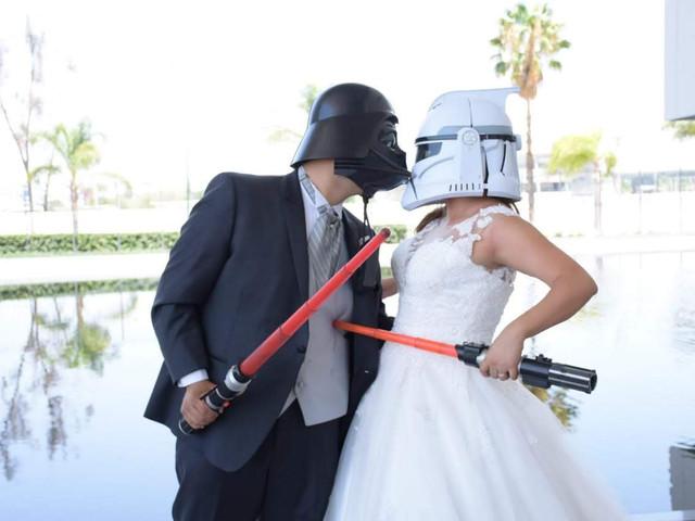 12 (y más) ideas para una boda 'Star Wars'... que la fuerza los acompañe