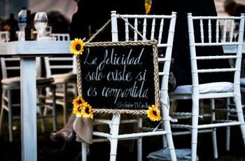 30 frases para decorar su boda, rincones llenos de amor y amistad