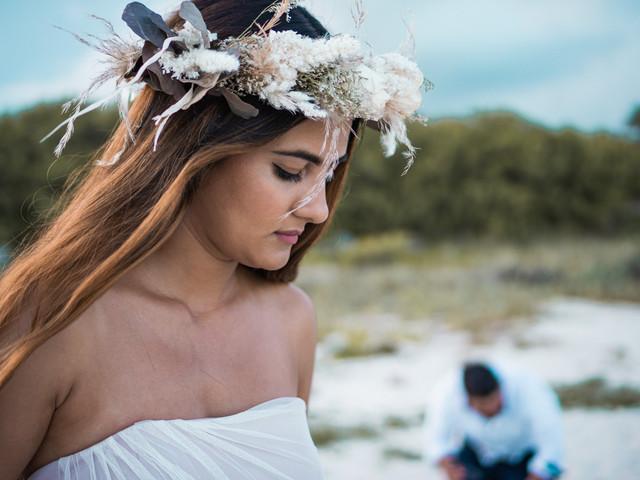 Coronas de flores para novia
