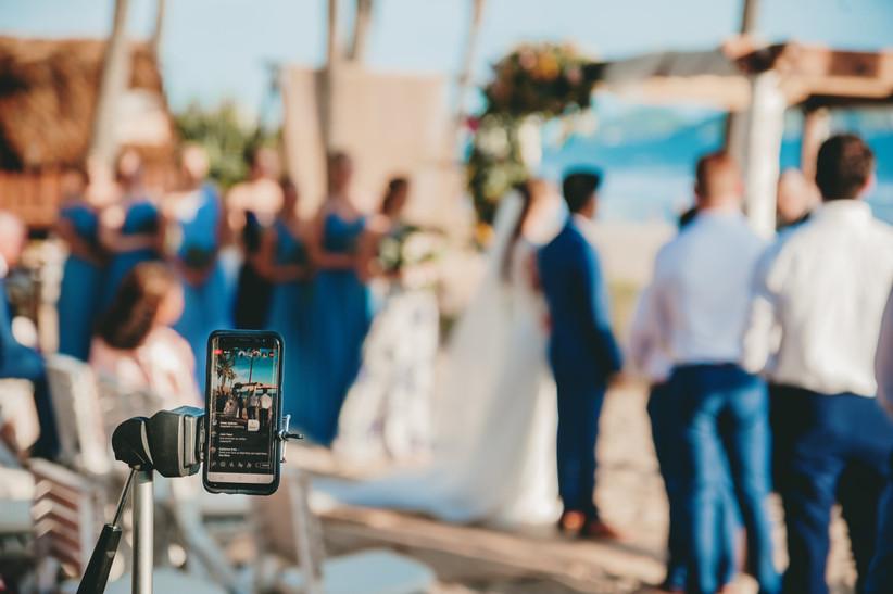 live streaming de boda con invitados virtuales