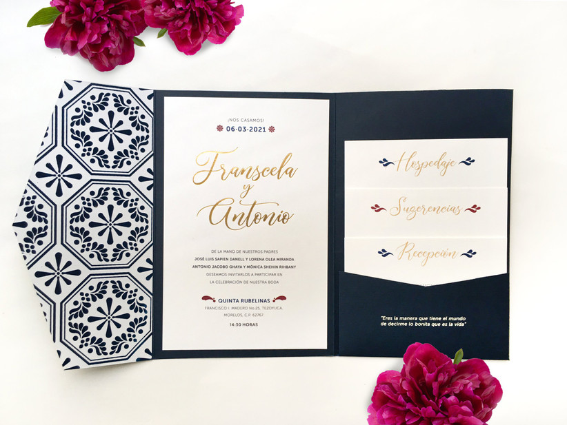 invitacion de boda elegante y original