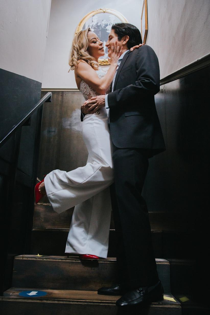 sesión de fotos de pareja recién casados