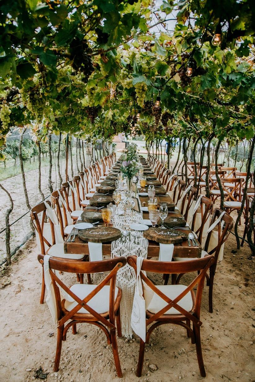 recepción de boda al aire libre