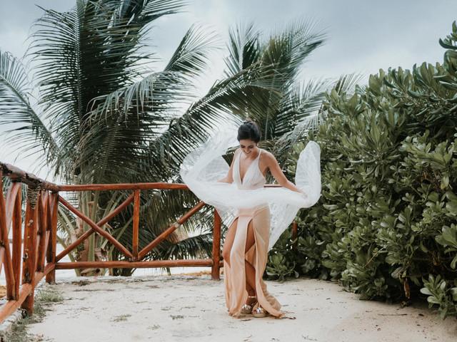 Toques de color para el vestido de novia: ¿sí o no?