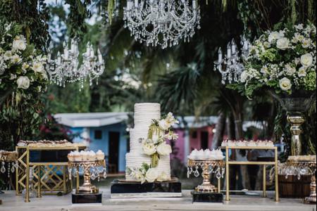 6 ideas para la decoración de la mesa para pastel de boda