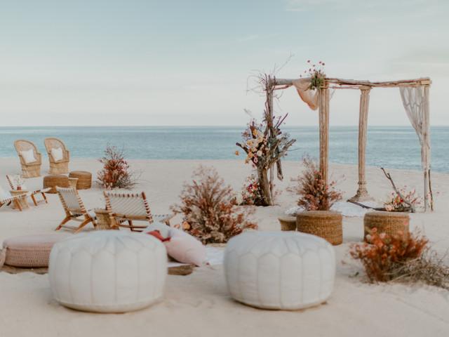 Tips para decorar la ceremonia de boda en playa
